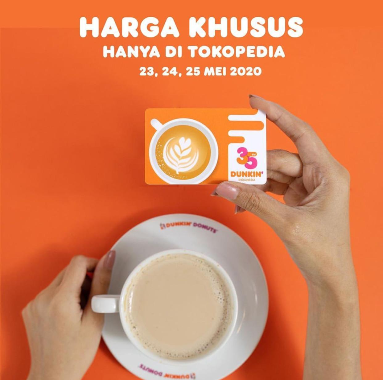 Promo Dunkin Donuts Harga Khusus DD Card di Tokopedia Hanya Rp 10.000
