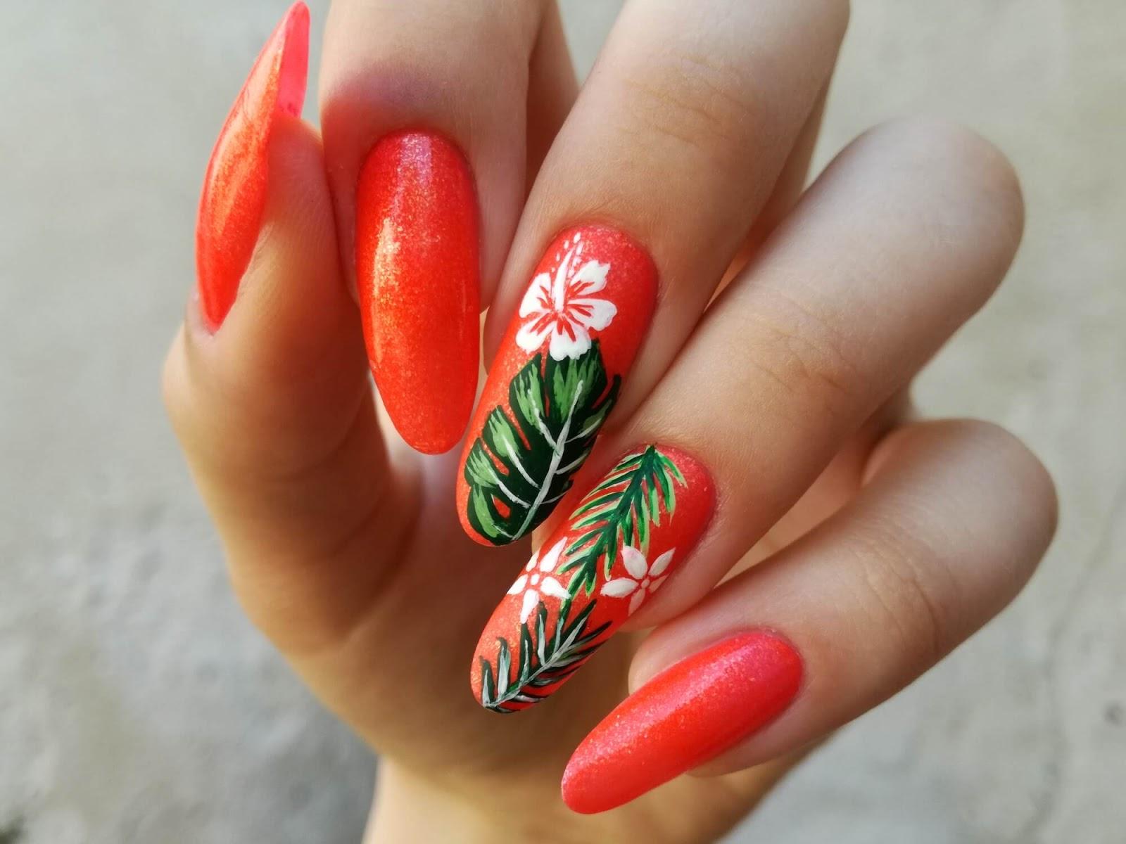 hawajskie paznokcie