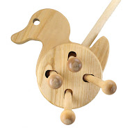 PW05, Push along Duck , Lotes Wooden Toys