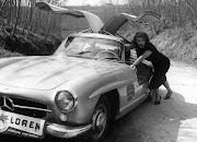 Sophia Loren & Her Mercedes-Benz 300 SL Gullwing