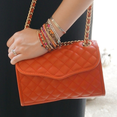 Away From The Blue | Rebecca Minkoff mini quilted affair bag in fire engine red