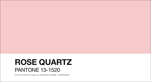 A Cor do Ano 2016: Rose Quartz Rosa Pantone