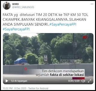 Penelusuran TIM 20 Detik ke TKP KM 50 Tol Cikampek, Ditemukan Banyak Kejanggalan
