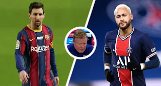 Barcelona boss Koeman react to PSG's interest in Messi
