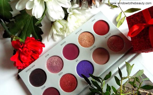 Morphe purple red eyeshadow palette