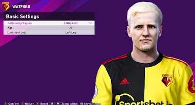 PES 2020 Faces Will Hughes by Rachmad ABs