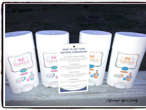 Tandem Deodorant Keeps The Warm Weather Stink Away! #Giveaway