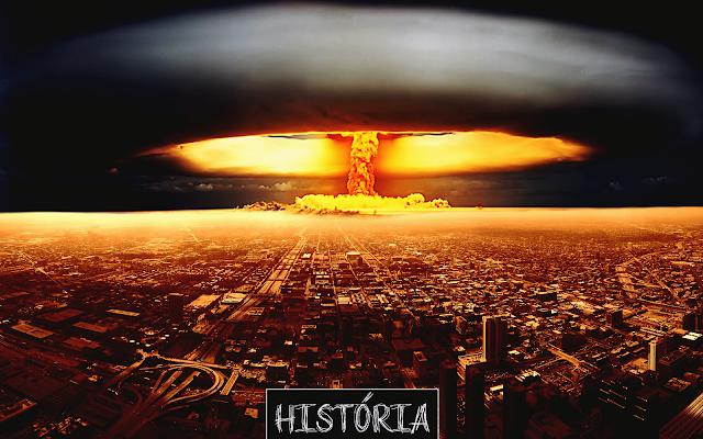 Imagem ilustrativa representando a magnitude da explosão de uma bomba atômica