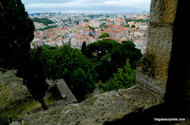 Lisboa vista das muralhas do Castelo de São Jorge
