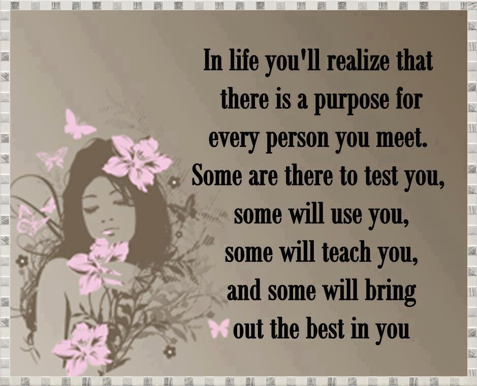 every person you meet in life has a purpose