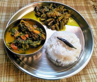 Assamese style lunch platter