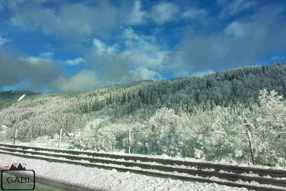 Austria zima Alpy