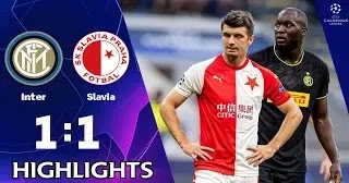 Inter Milan vs Slavia Prague 1-1 All Goals And Match ...