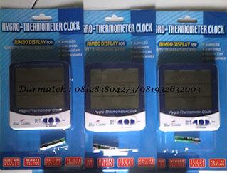 Darmatek Jual Blue Gizmo BG HTC-01 Thermohygrometer with Clock