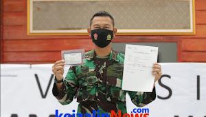 Letkol Nav Rudy Hartono, Komandan Pangkalan TNI Angkatan Udara H AS Hanandjoeddin (Danlanud ASH), Sudah Divaksinasi Covid - 19 Sesuai Arahan Presiden Joko Widodo