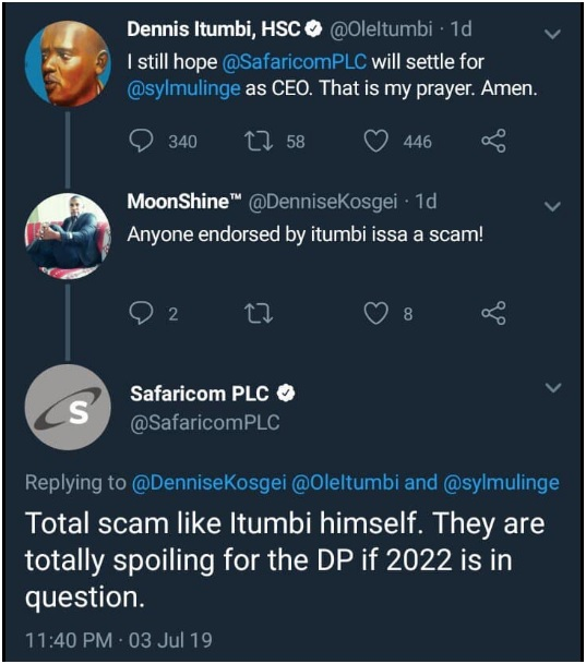 6 - Did someone hack Safaricom's official twitter account or the admin was high on weed, Last night's tweets shock Kenyans