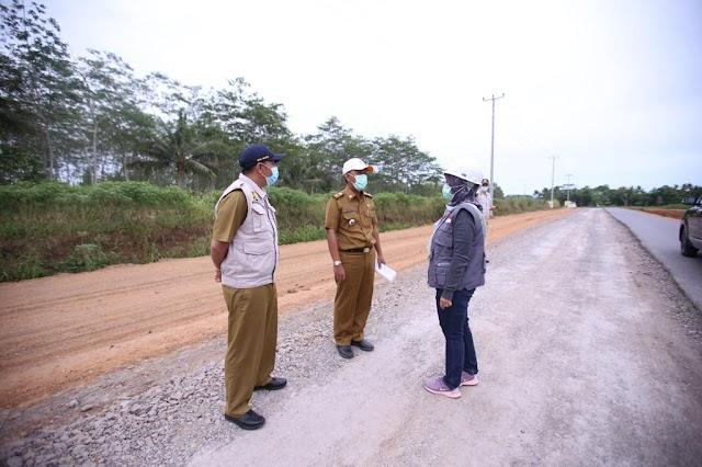 Lakukan Peninjauan Sejumlah Ruas Jalan Provinsi, Pemprov Lampung Pastikan Pembangunan Infrastruktur Berjalan Baik