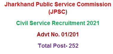 Apply Civil Service JPSC Pre Recruitment 2021