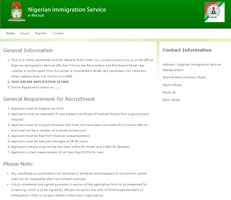 FG Begins Massive Recruitment At Immigration Civil Defense And – Fire Service Application Form