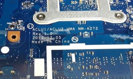 NM-A272 REV 1.0 ACLU1 ACLU2 LENOVO G40-70  Laptop Bios