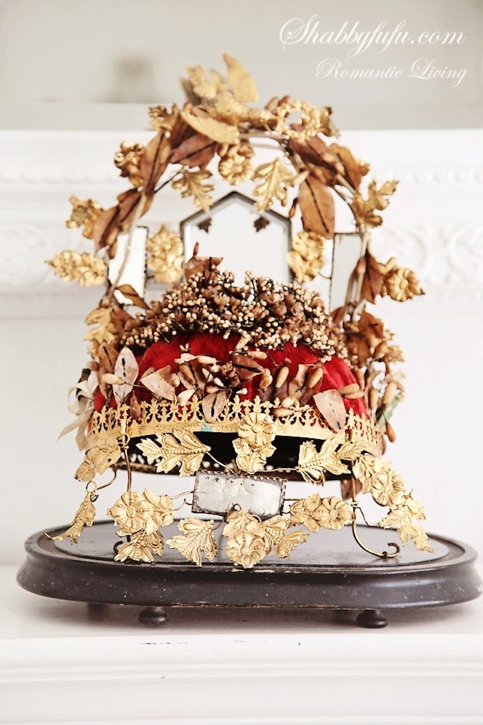 antique french marriage crown