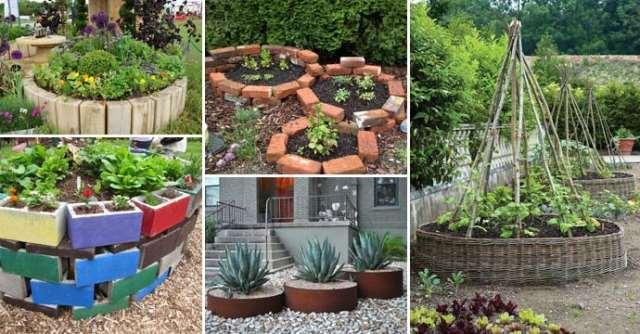 Απίθανες ιδέες για στρογγυλό παρτέρι κήπου με ανακυκλώσιμα υλικά
