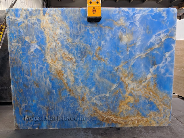 Blue Onyx Marble Slabs New Jersey