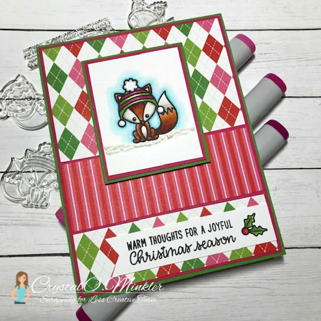 Sunny Studio Stamps: Foxy Christmas Customer Card by Crystal Minkler