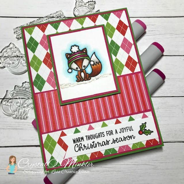 Sunny Studio Stamps: Foxy Christmas Customer Card by Crystal Minkler