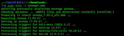 installing zenmap on kali linux 2021