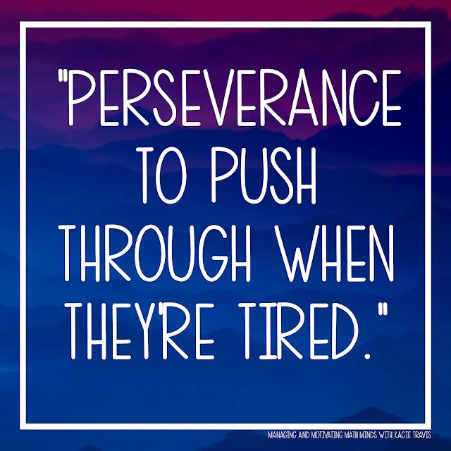 Lord, give my students perseverance to push through when they're tired.