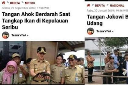 Jokowi Kepatil Udang, Netizen: Mirip Peristiwa Ahok Kepatil Ikan Jelang Tersungkur