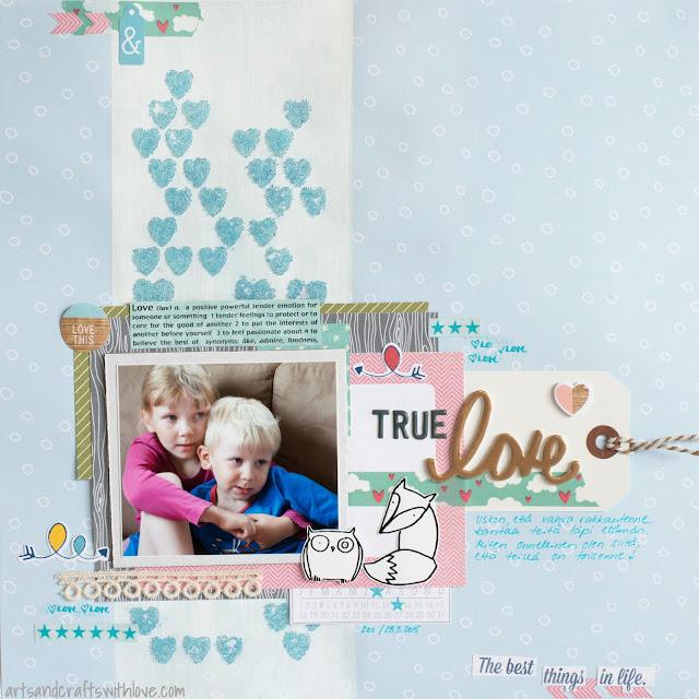 Scrapbooking layout: True love
