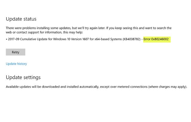 Windows Update error 0x80246002
