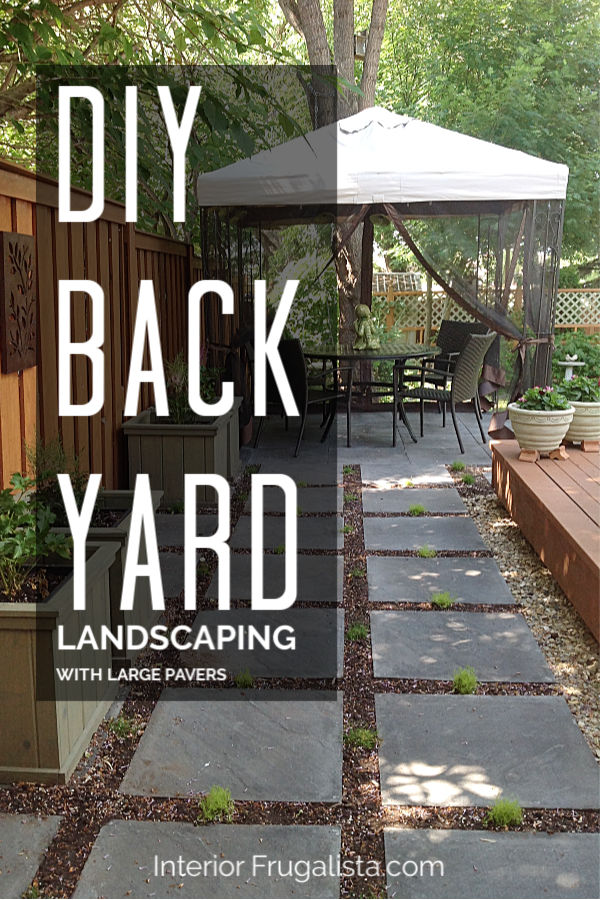 DIY Backyard Landscaping With Large Pavers