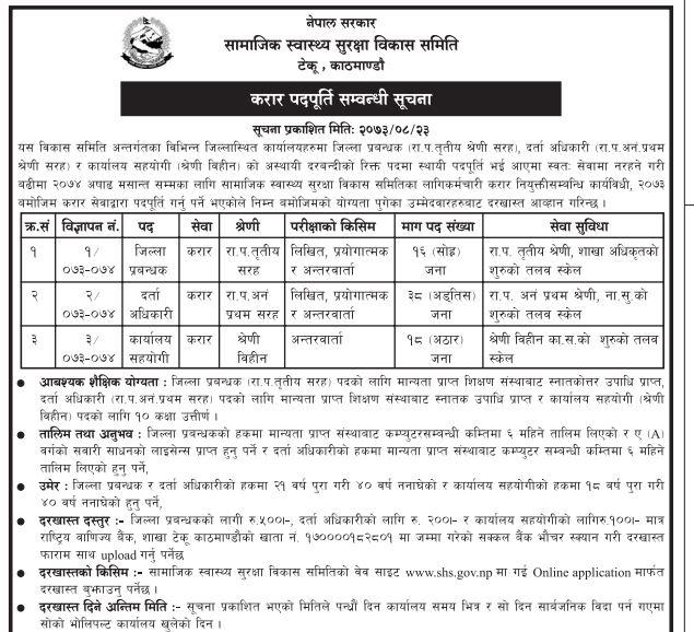 District Managers(16) - Social Health Security Development Committee
