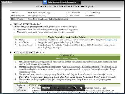 Download RPP Prakarya (Rekayasa) Kelas 7 Semester 2