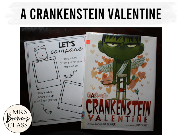 A Crankenstein Valentine book study with companion activities and a craftivity to go with the book by Samantha Berger Common Core aligned K-1