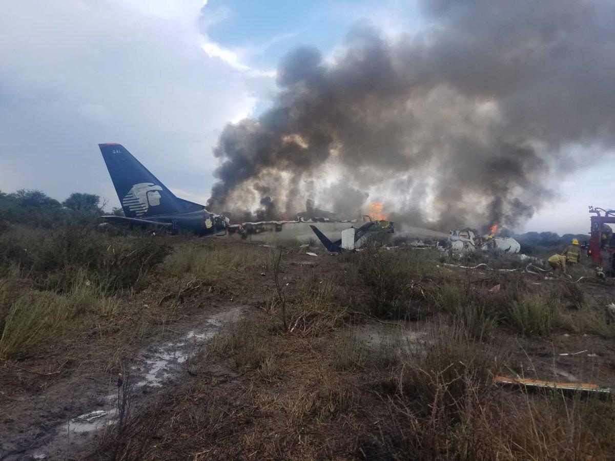 Los 101 que iban a bordo del avión de Aeroméxico podrán contar su historia: todos sobrevivieron