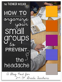 Classroom Organization and Decor- Setting up for small group- tips and hacks for back to school set up- setting up for guided reading or small group area with organization hacks and freebies