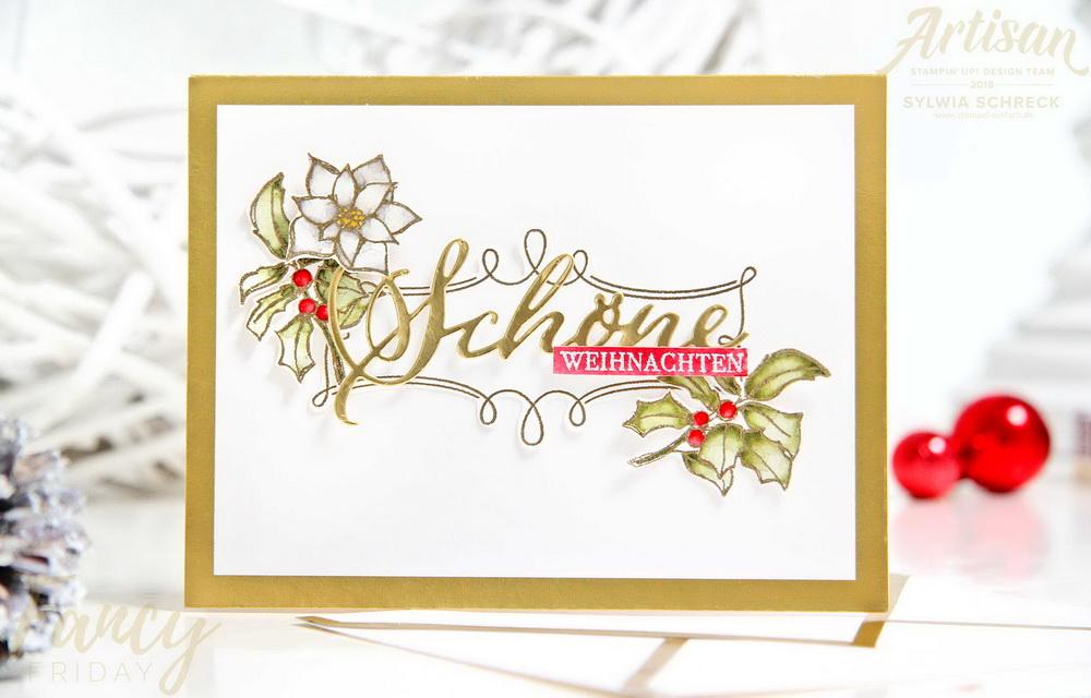 Weihnachtskarte-Stampin up