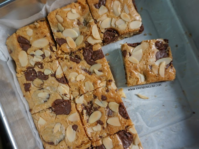 Resepi Chocolate Milk Blondies