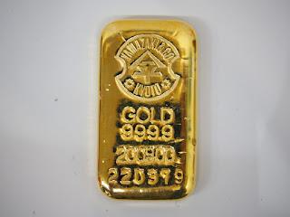 純金(9999)200グラム!京都の山崎商店製インゴットバーをインゴット価格でお買い取り致しました
