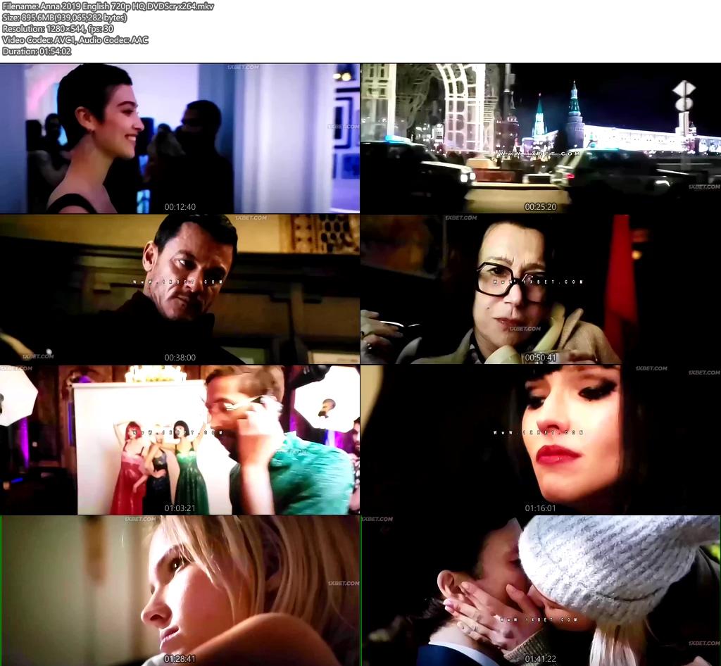 Anna 2019 English 720p HQ DVDScr x264   480p 300MB   100MB HEVC Screenshot