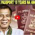 WOW GALING TALAGA NG PANGULONG DUTERTE GINAWA NIYANG 10 YEARS ANG VALIDITY NG PASSPORT