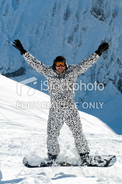 """bee0a6000950 Get me a picture of a snowboarding idiot from the front and try him in a  snow leopard suit this time."""""""