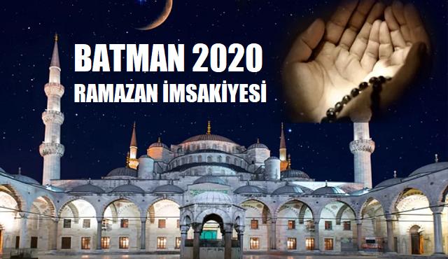 Batman 2020 Ramazan İmsakiyesi, İftar ve Sahur Saatleri