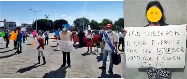 Policía de Huejotzingo deja libre a sujeto que golpeó brutalmente a una menor
