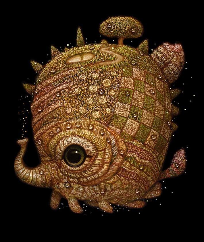 11-Sea-and-forest-creature-Surreal-Creature-www-designstack-co