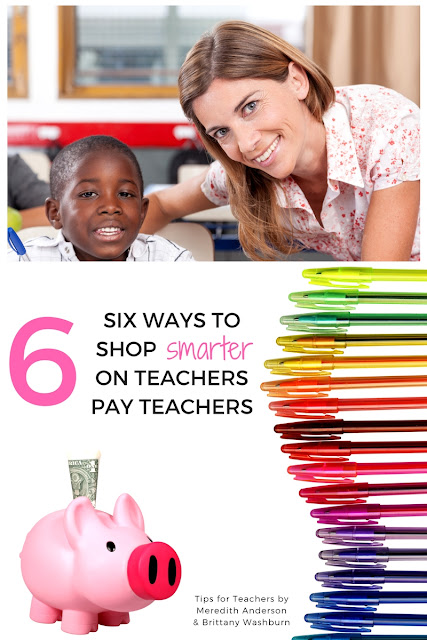 SIX ways to shop smarter on Teachers pay Teachers - Follow these tips to keep more money in your pocket while shopping for high quality classroom resources! | Meredith Anderson - Momgineer